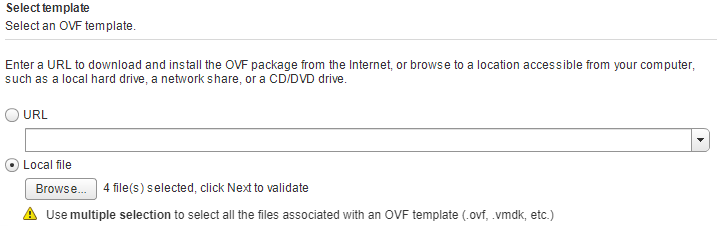 Failed to deploy OVF : Transport failed The OVF descriptor not