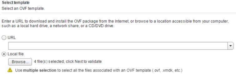 Failed to deploy OVF : Transport failed The OVF descriptor not